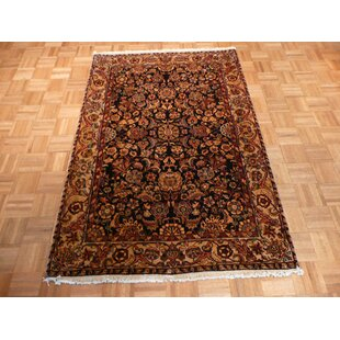 Buying One-of-a-Kind Bearfield Hand-Knotted Wool Brown/Black Area Rug By Isabelline