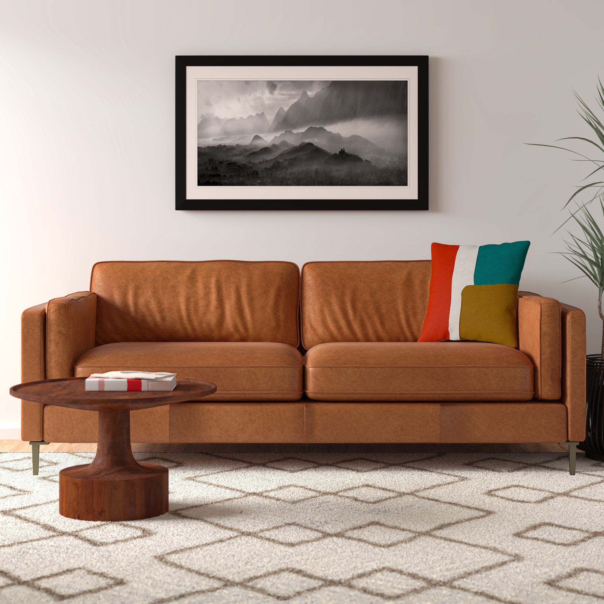 Harman 84 Genuine Leather Sofa Allmodern