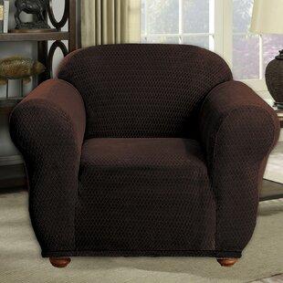 Stretch Diamond Box Cushion Armchair Slipcover By Red Barrel Studio