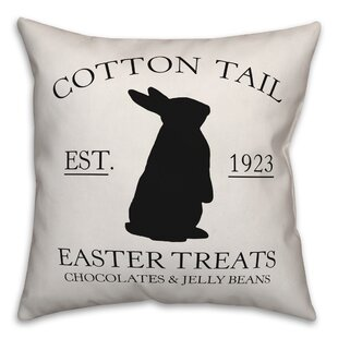 Sapien Tail Easter Treats Throw Pillow