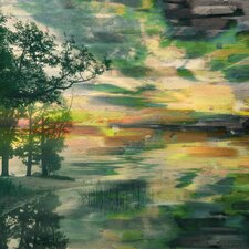 'Lakeside Trees' by Parvez Taj Painting Print on Wrapped Canvas