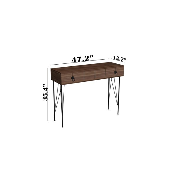 George Oliver Ove 47 Console Table Wayfair