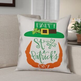 Bledsoe Happy St. Patrick's Day Leprechaun Throw Pillow