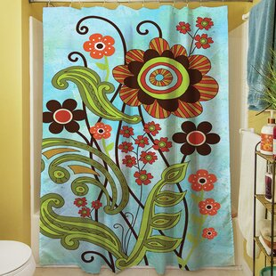 Flower Power Stems Single Shower Curtain
