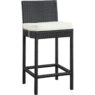Emma Patio Bar Stool with Cushion (Set of 2)