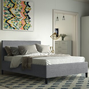 Review Alauda Upholstered Bed Frame