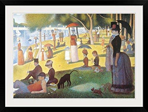 Vault W Artwork A Sunday Afternoon On The Island Of La Grande Jatte By Georges Seurat Framed Graphic Art Print Wayfair