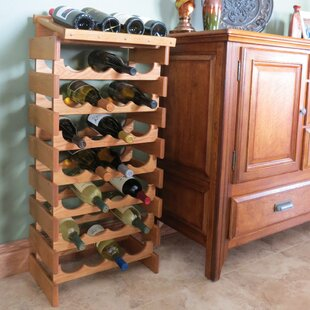 Dakota 18 Bottle Floor Wine Rack by Woode..