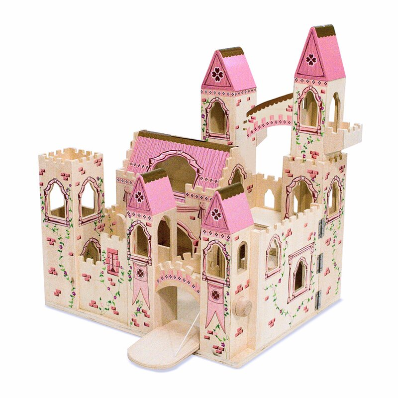 Melissa Amp Doug Folding Princess Castle Amp Reviews Wayfair