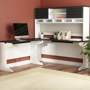 Hythe L-Shape Executive Desk with Hutch