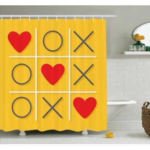 Love Romantic Tic Toc Game Shower Curtain Set