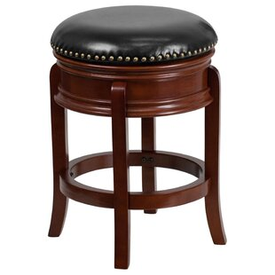 Lafe Backless 25'' Swivel Bar Stool Charlton Home