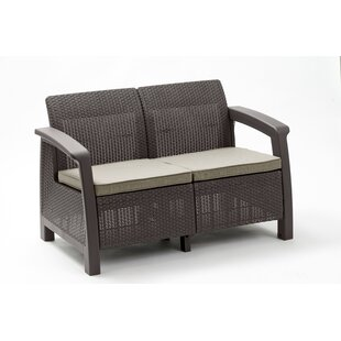 Bahamas Loveseat with Cushions by Keter