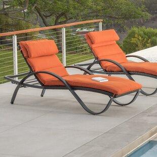 Three Posts Northridge Chaise Lounge with Cushion (Set of 2)