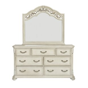 Cavas 7 Drawer Double Dresser with Mirror