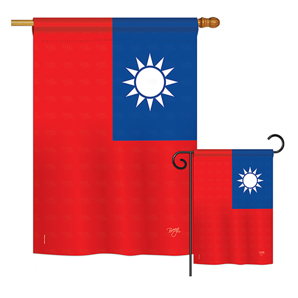 Breeze Decor 2 Piece Taiwan Of The World Nationality Impressions Decorative Vertical 2 Sided Polyester Flag Set Wayfair