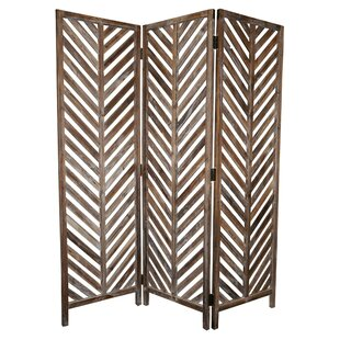 Boadicea Wood 3 Panel Room Divider by Bungalow Rose