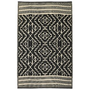 Huber Beige/Black Indoor/Outdoor Area Rug