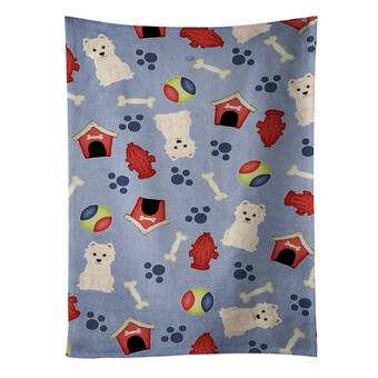 Westie Mom West Highland Terrier Microfiber Kitchen Tea Bar Towel Gift for Animal Dog Lover