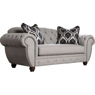 Darby Home Co Suffield Chesterfield Loveseat