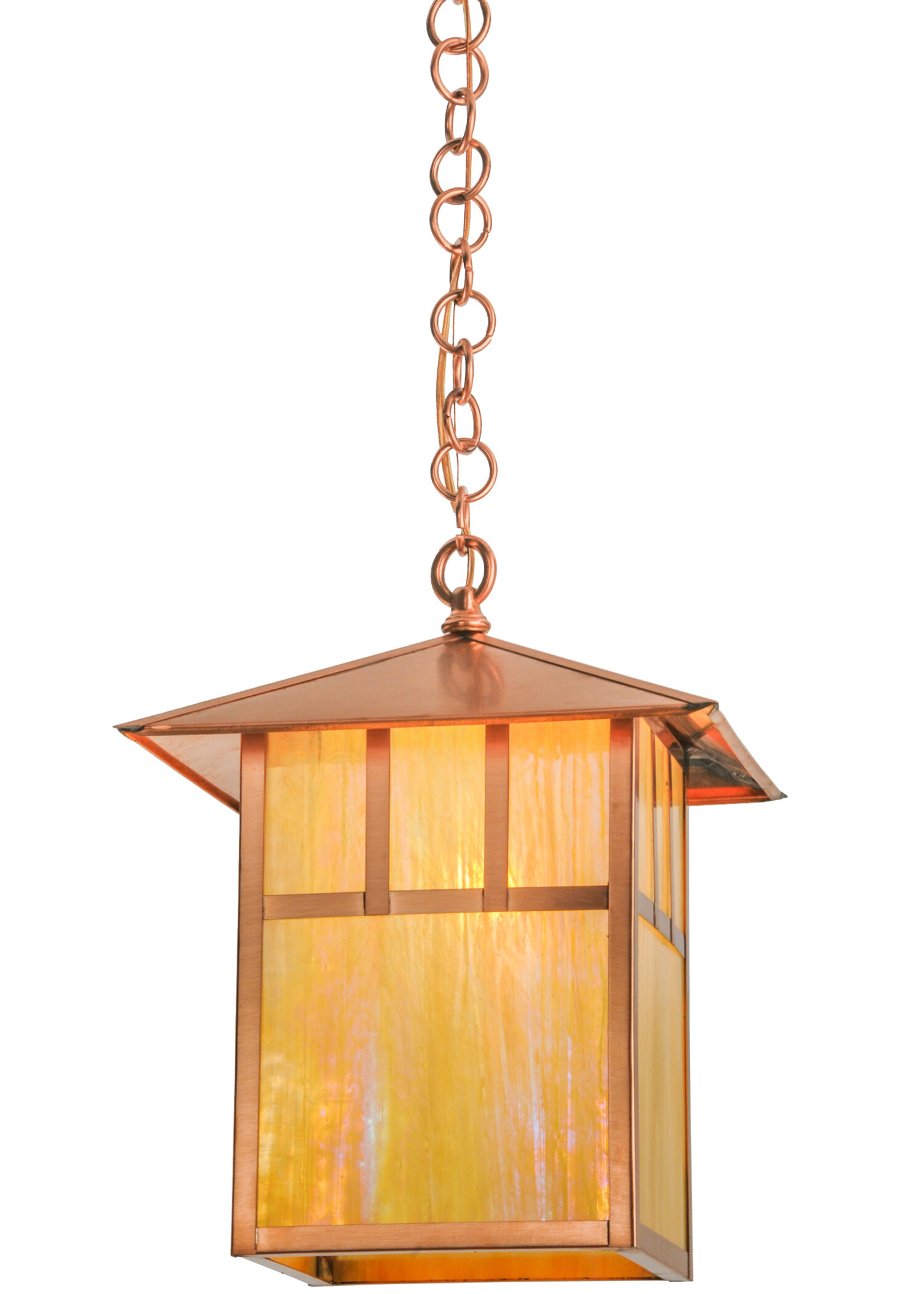 Meyda Tiffany Greenbriar Oak 1 Light Lantern Rectangle Pendant Wayfair