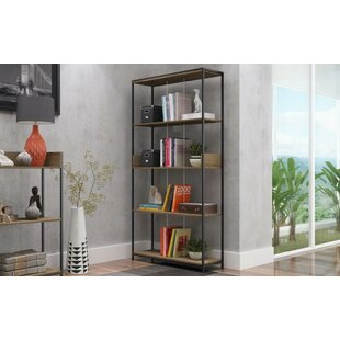 Blaire Metal Standard Bookcase Ivy Bronx