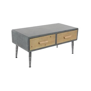 Meri Modern Rectangular 2-Drawer Wooden Coffee Table by Williston Forge