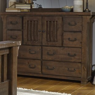 Loon Peak Buckleys 8 Drawer Combo Dresser wi..