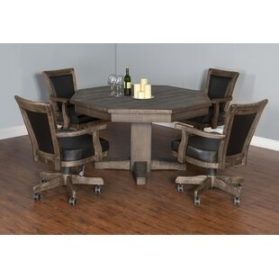 Amesite Solid Wood Dining Table Loon Peak
