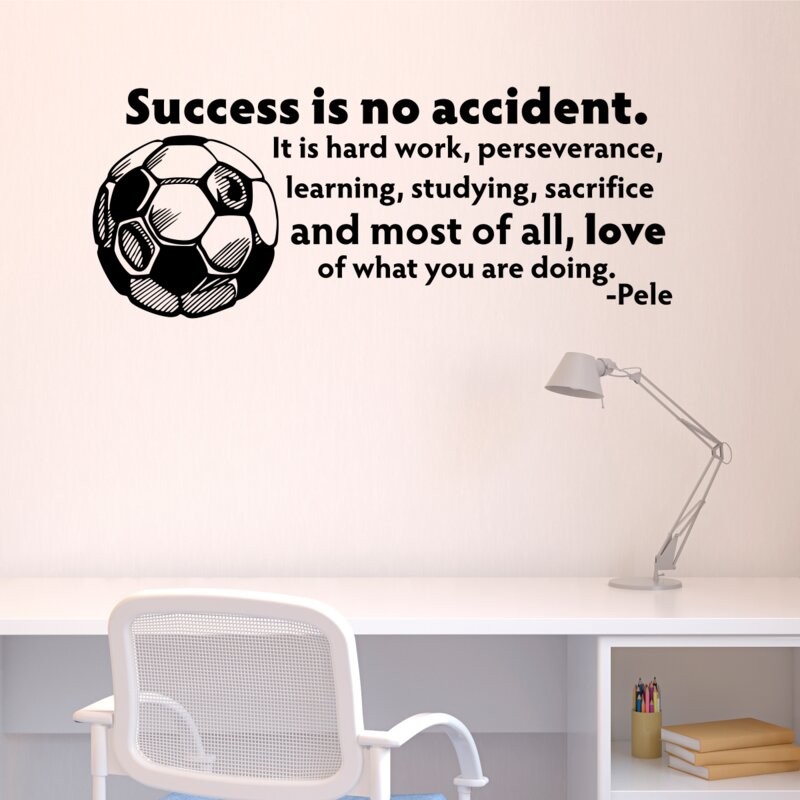Belvedere Designs Llc Success Is No Accident Soccer Ball Wall Quotes