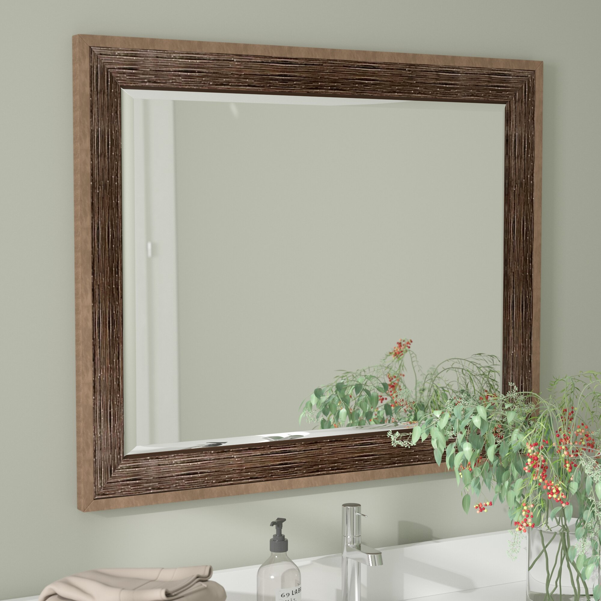Union Rustic Drift Wall Mirror & Reviews