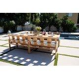 Veun 5 Piece Teak Sunbrella Dining Set with Cushions