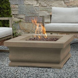 Real Flame Treviso Concrete Propane Fire Pit Table
