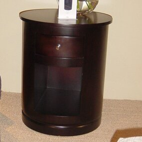 Clio End Table with Storage