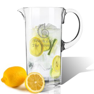 Personalized Tritan Spiral Shell 55 oz. Pitcher