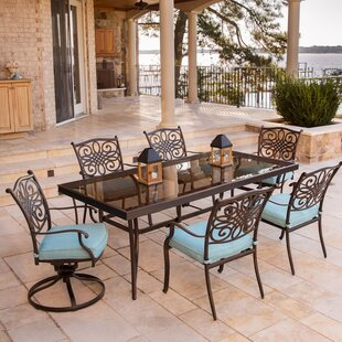 Carleton 7 Piece Dining Set with Cushions by Fleur De Lis Living