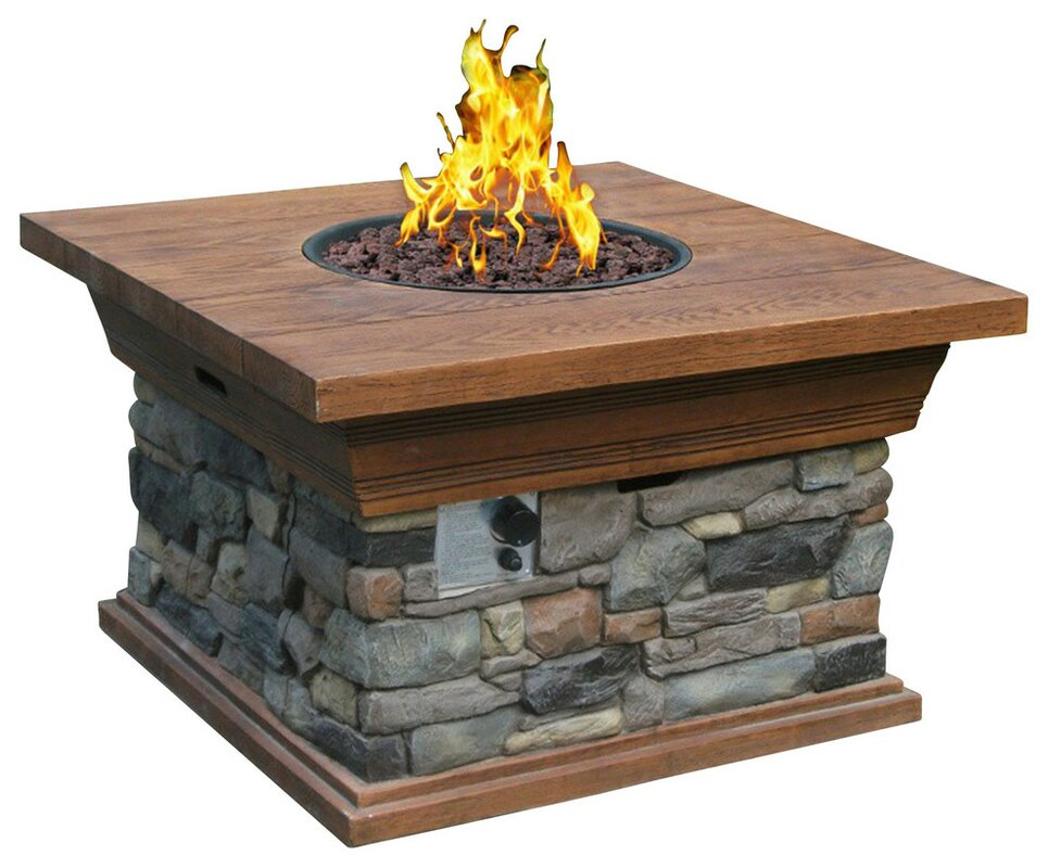 Phat Tommy Yosemite Propane Fire Pit Table