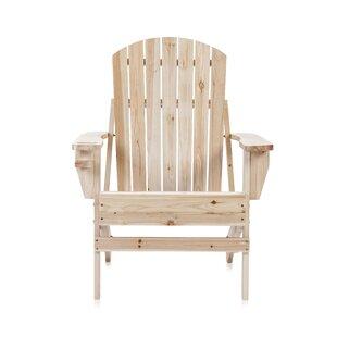Natural Wood Folding Adirondack Chair