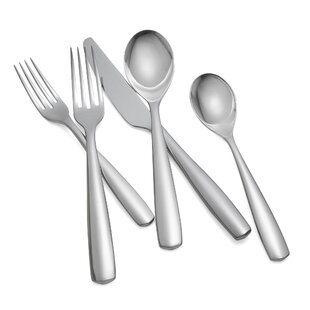 Fjord Setting 5-Piece 18/10 Stainless Steel Flatware Set, Service for 1