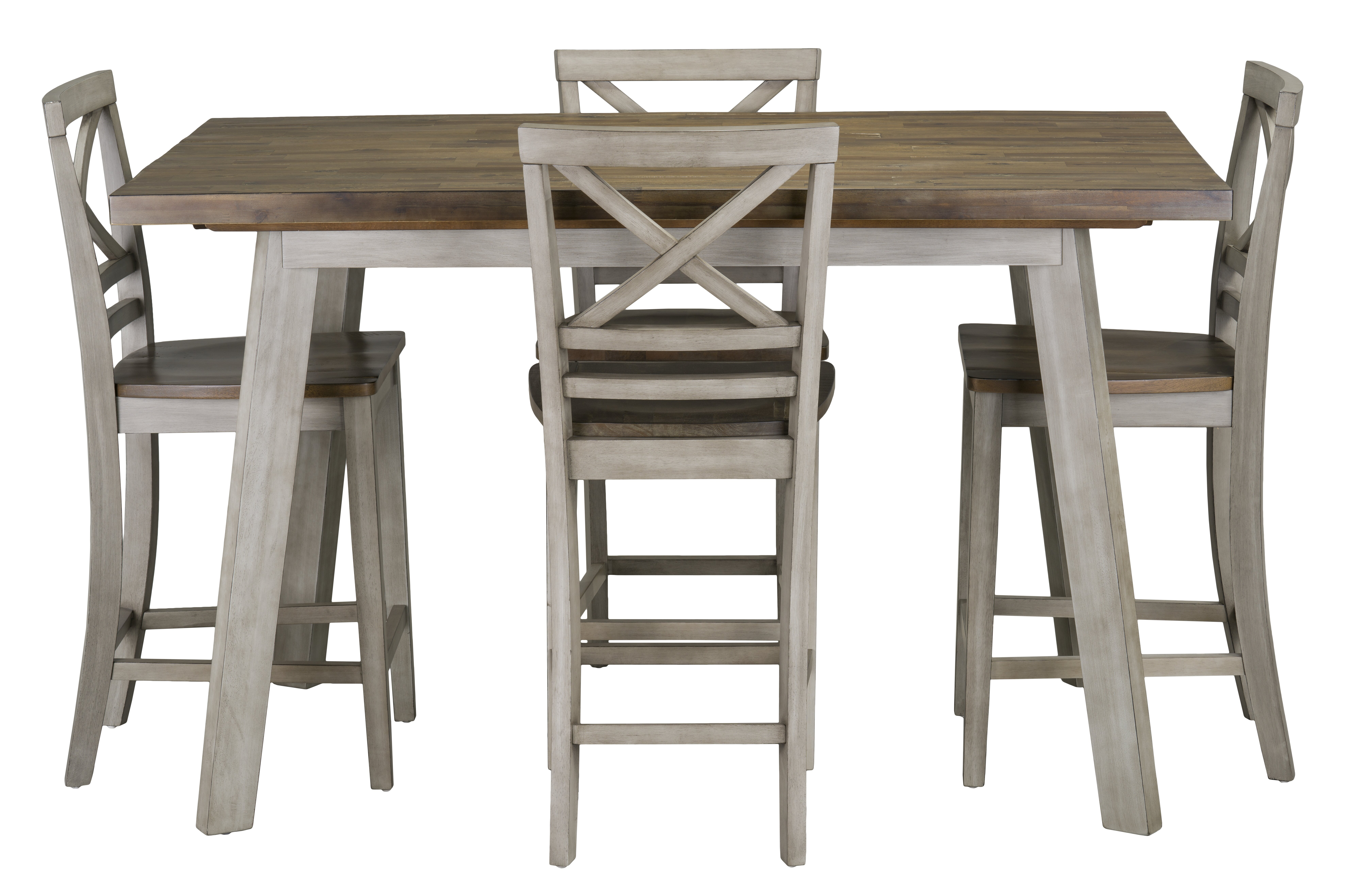 Gracie Oaks Tegan 5 Piece Counter Height Solid Wood Dining Set Reviews Wayfair