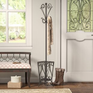 Charlton Home Duhon Metal Coat Rack with Umbrella Stand