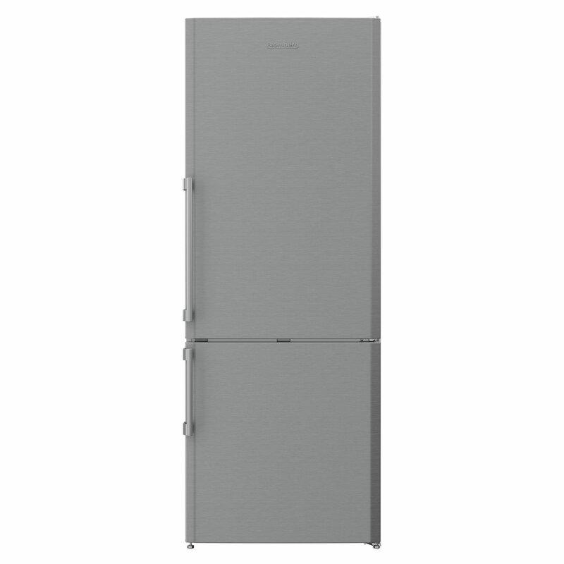 Blomberg 16.79 cu. ft. Energy Star Counter Depth Bottom Freezer Refrigerator with LED Lighting