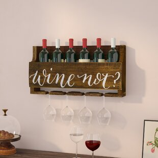 Mccandless Wine 4 Bottle Wall Mounted Wine Rack