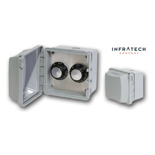 INF Surface Mount Waterproof Double Control Thermostat By Infratech