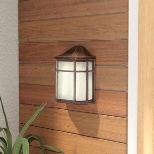 Baumeister 1-Light Outdoor Flush Mount by Ebern Designs