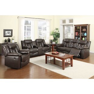 Nathaniel Home James Reclining 3 Piece Living Room Set