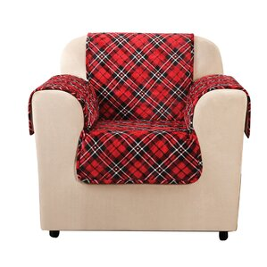 Lodge Tartan Plaid Box Cushion Armchair Slipcover by Sure Fit