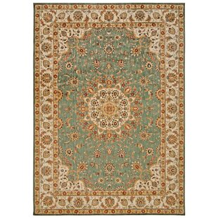 Babylon Ancient Times Palace Teal Area Rug by Kathy Ireland Home Gallery