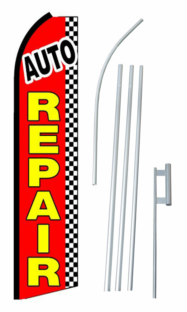 Neoplex Auto Repair Checkered Polyester 180 X 30 In Flag Set Wayfair