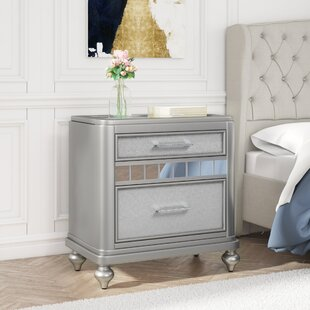 Best Reviews Adhafera 2 Drawer Nightstand By Rosdorf Park